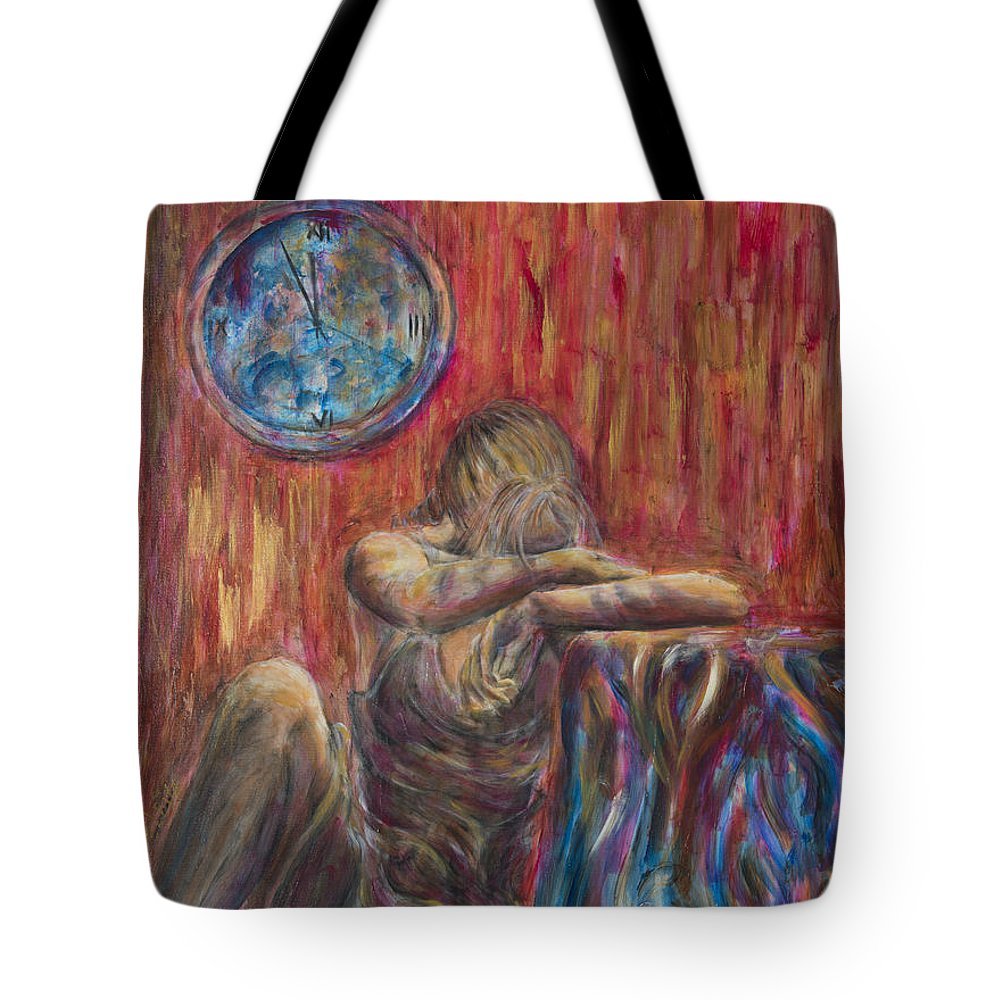 When Tomorrow Comes Tote Bag featuring the painting When Tomorrow Comes by Nik Helbig