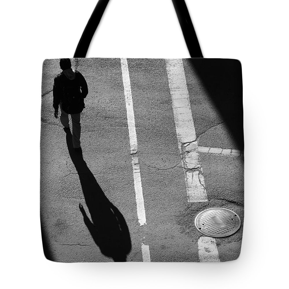 Street Photography Tote Bag featuring the photograph Where Do I Begin by The Artist Project