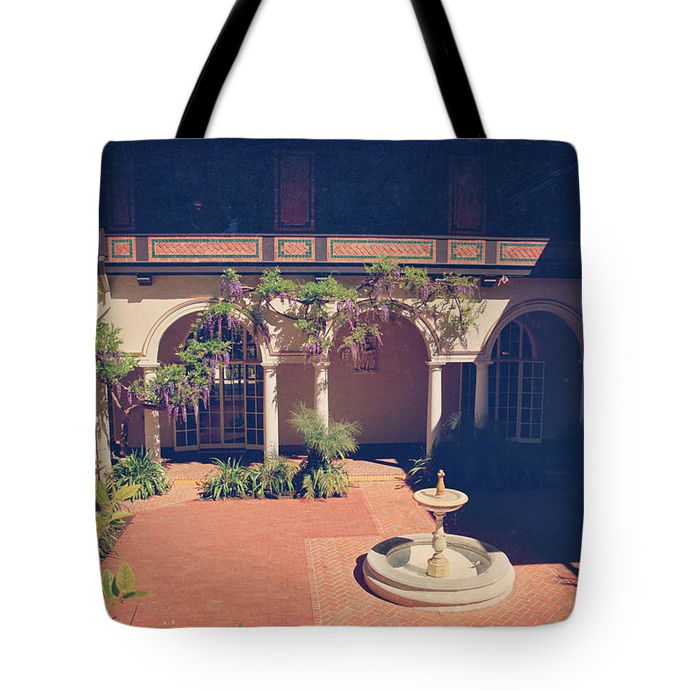 Villa Montalvo Tote Bag featuring the photograph Where We Once Danced by Laurie Search