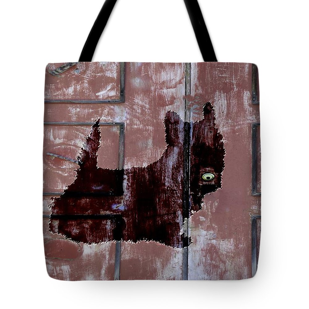 Idaho Falls Tote Bag featuring the photograph Which One Is My Dog Door? by Image Takers Photography LLC