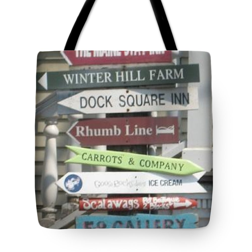 Americana Tote Bag featuring the photograph Which Way by Melissa McCrann