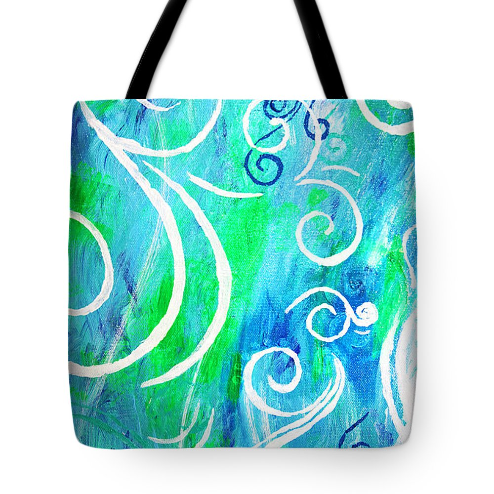 Swirls Tote Bag featuring the painting Whimsical By Jan Marvin by Jan Marvin