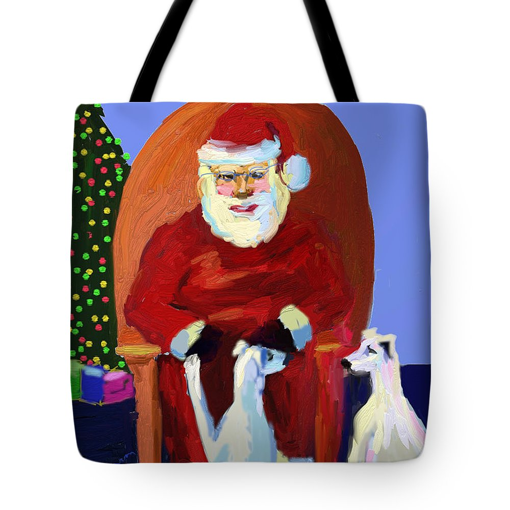 Ipad Finger Painting Tote Bag featuring the painting Whippet Talk by Terry Chacon