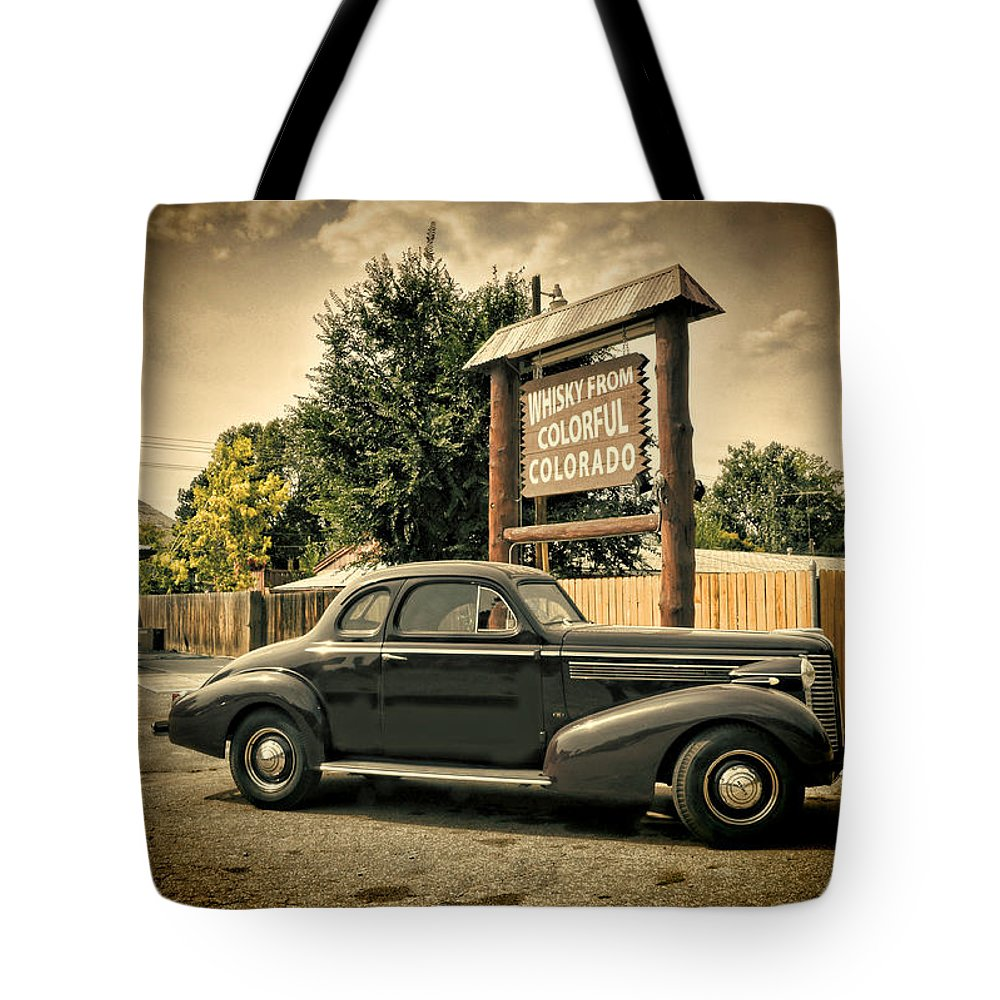 Vintage Car Tote Bag featuring the photograph Whisky From Colorful Colorado by Ken Smith