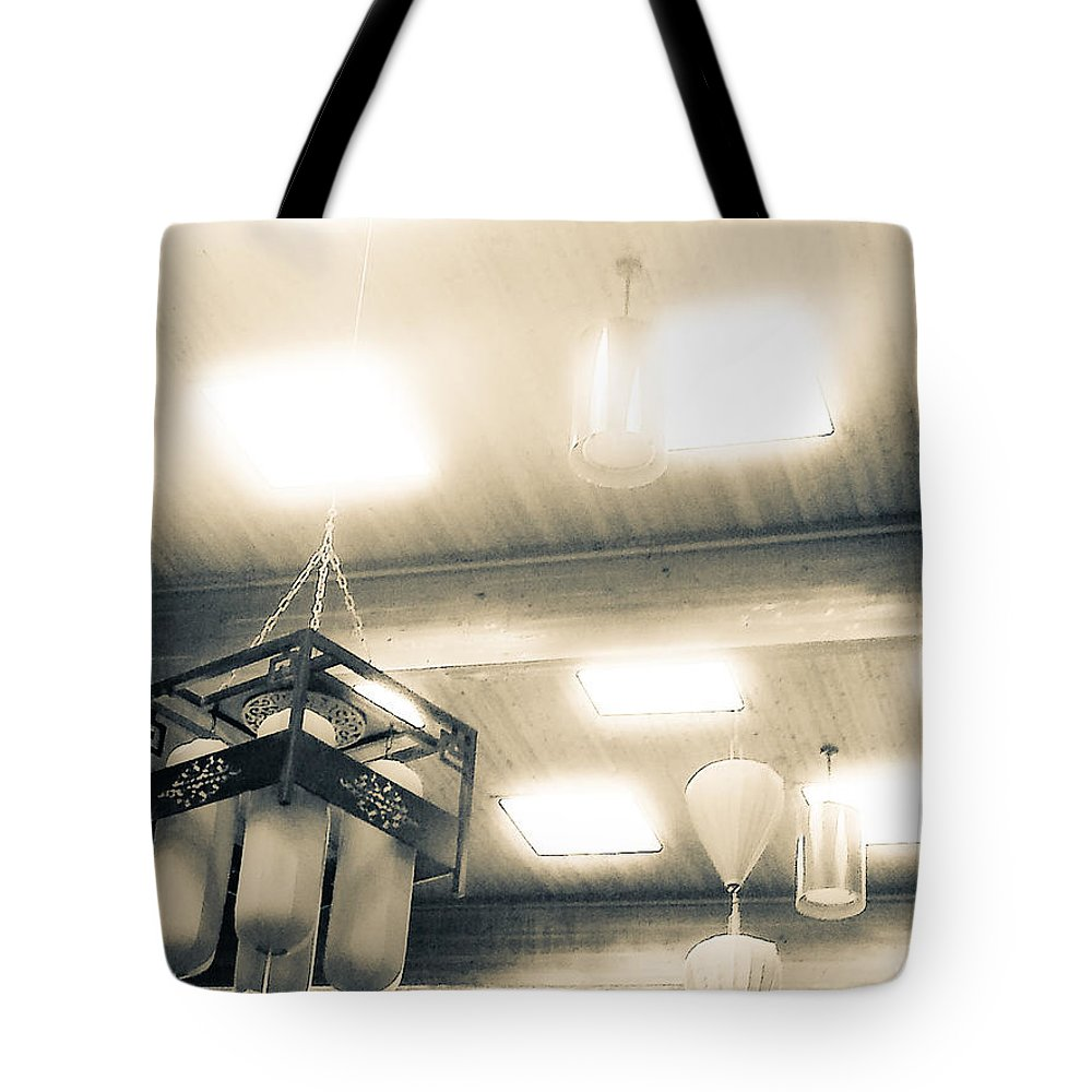 Lanterns Tote Bag featuring the photograph Whispering Lanterns by Fei A