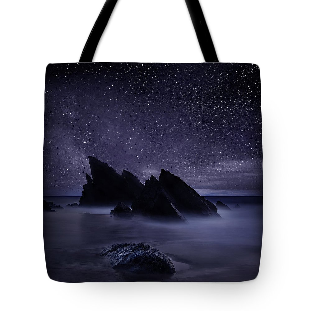 Night Tote Bag featuring the photograph Whispers of eternity by Jorge Maia