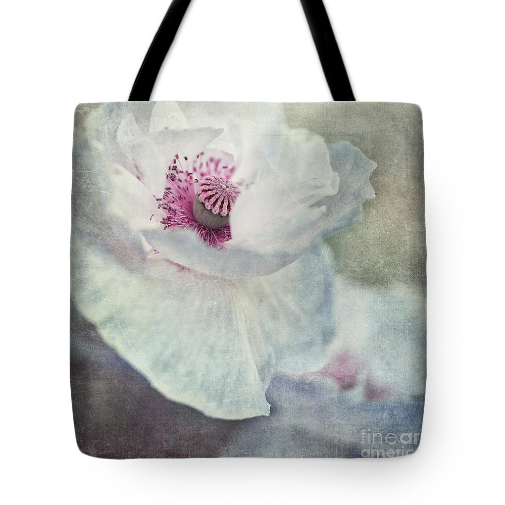 Poppy Tote Bag featuring the photograph White And Pink by Priska Wettstein