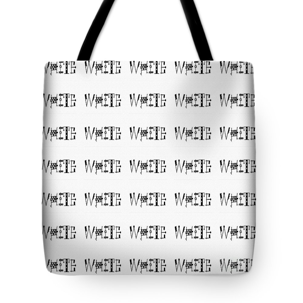 White Tote Bag featuring the digital art White by Barbara Griffin