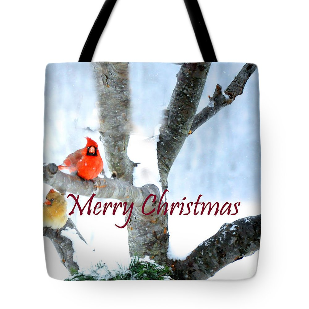 Nature Tote Bag featuring the photograph White Christmas by Nava Thompson