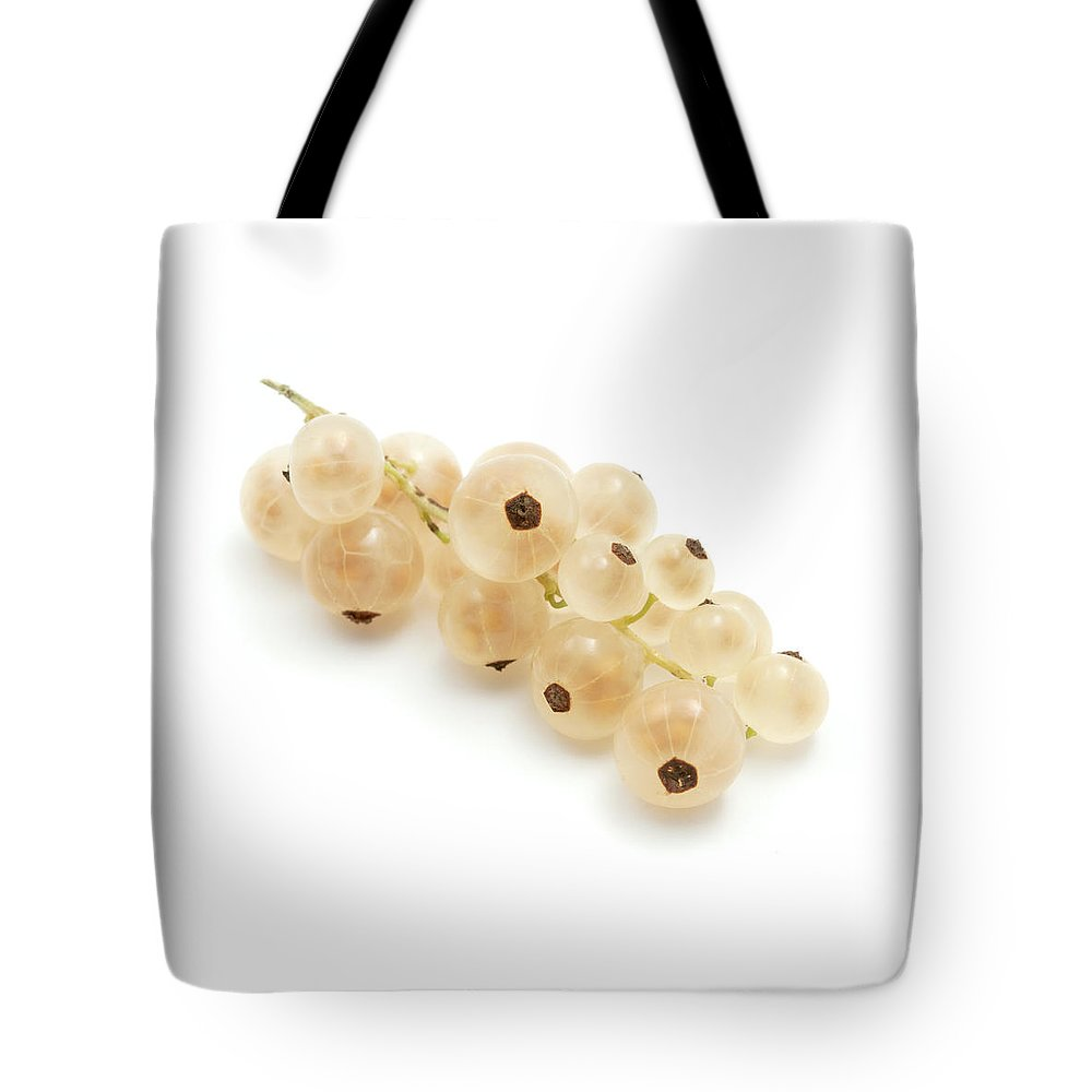 White Background Tote Bag featuring the photograph White Currant by Fabrizio Troiani