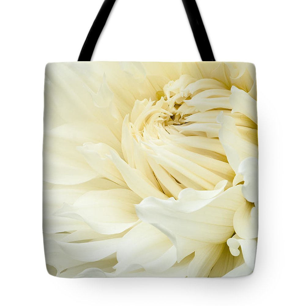 Walter Hardisty Tote Bag featuring the photograph White Dahlia by Joe Mamer