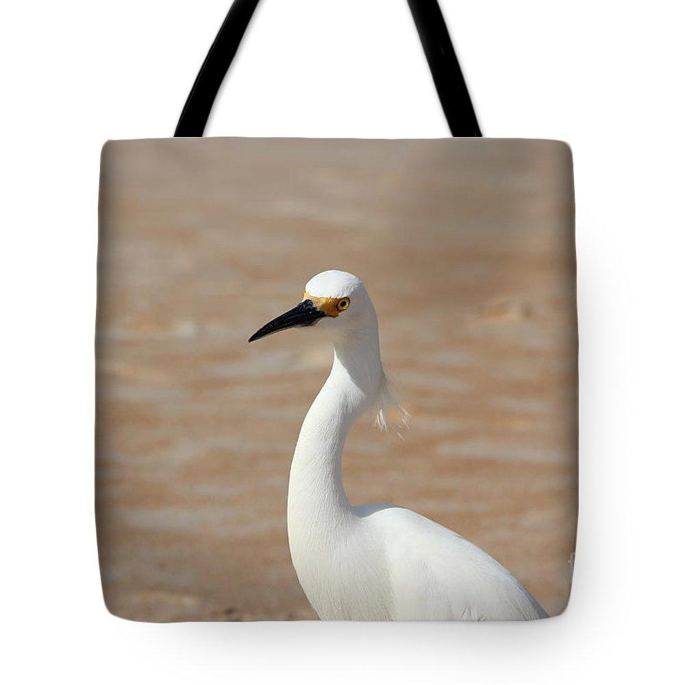 Egret Tote Bag featuring the photograph White Egret by Jackie Mestrom
