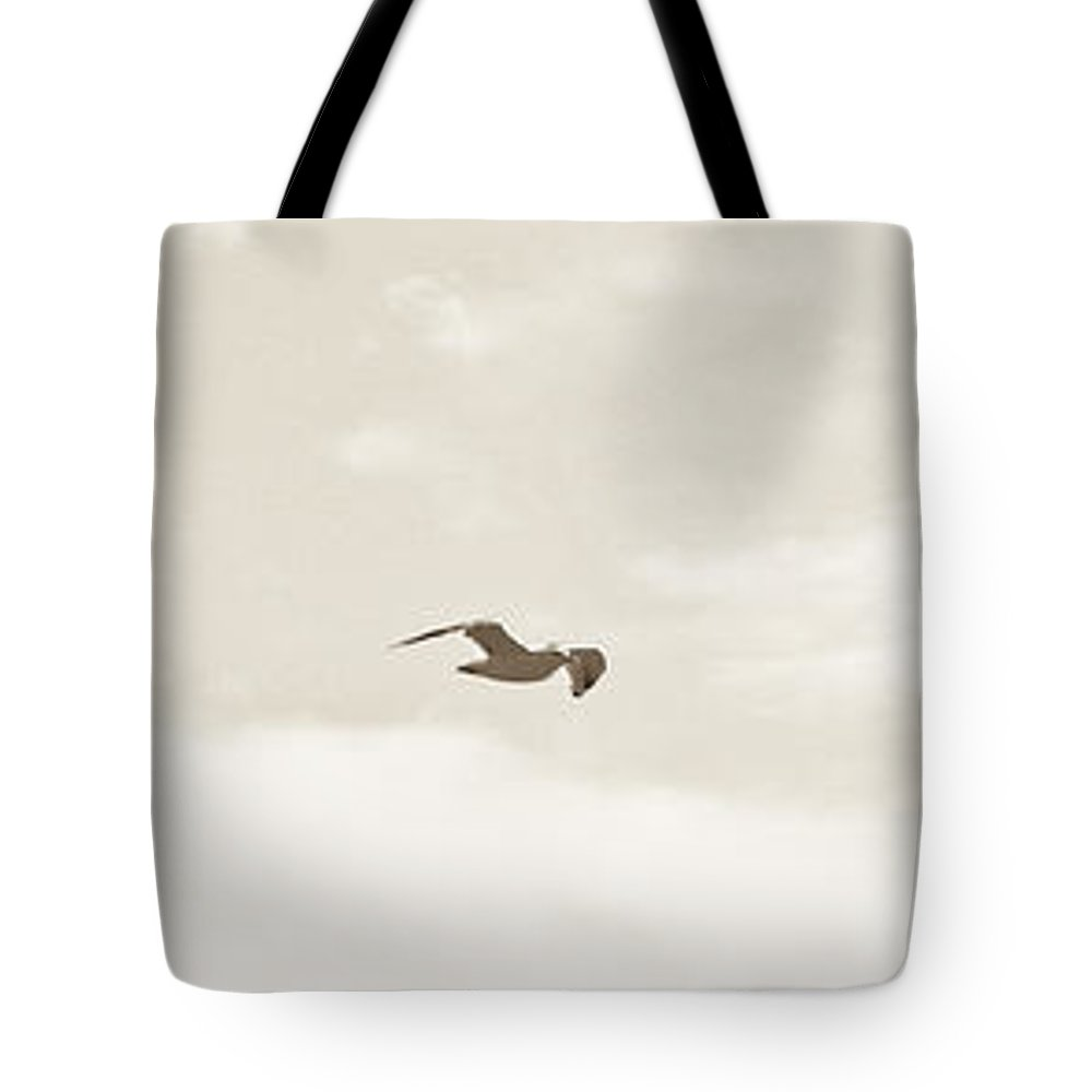 Sky Tote Bag featuring the photograph White Flight by David Fabian