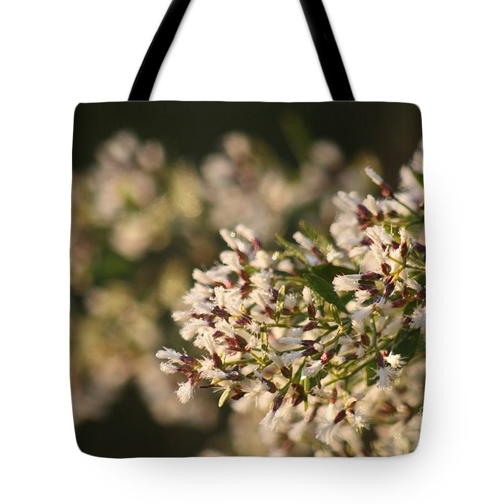 White Tote Bag featuring the photograph White Flowers by Nadine Rippelmeyer