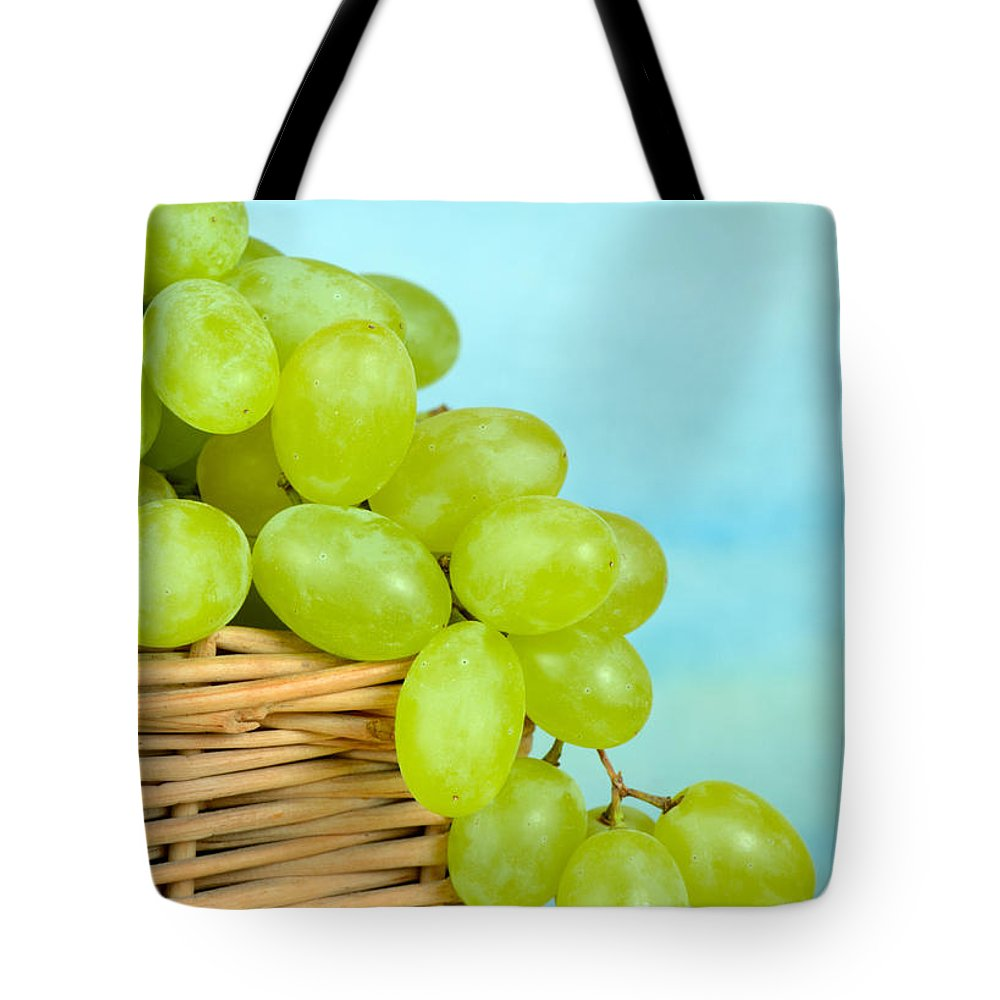 Grapes Tote Bag featuring the photograph White Grapes by Grigorios Moraitis