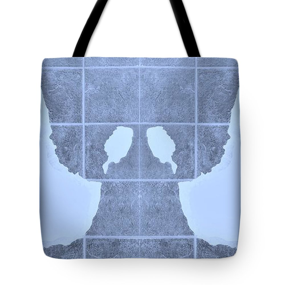 Hand Tote Bag featuring the photograph White Hands Cyan by Rob Hans