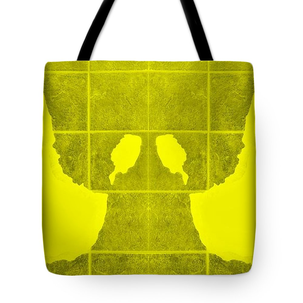 Hand Tote Bag featuring the photograph White Hands Yellow by Rob Hans