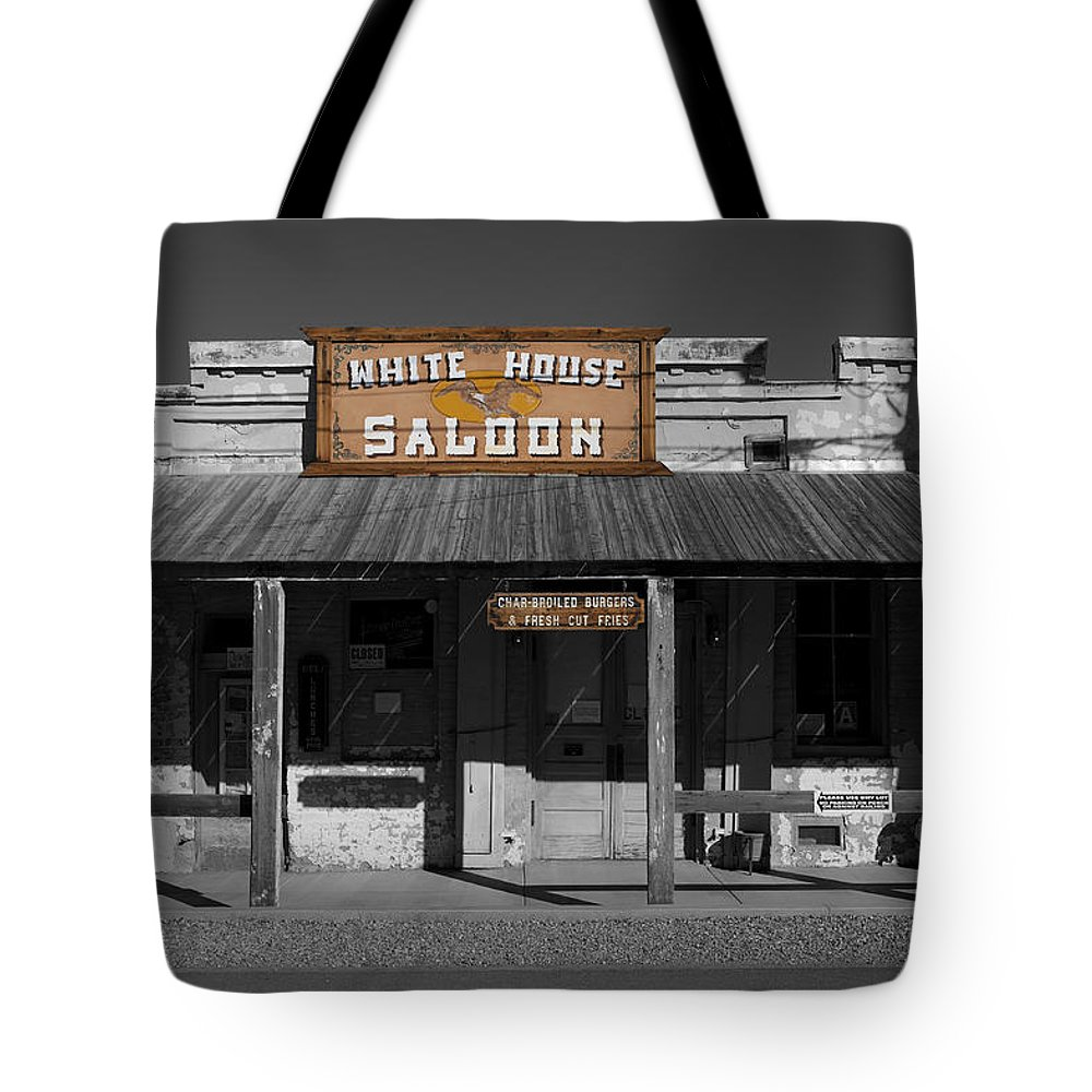 White House Saloon Tote Bag featuring the photograph White House Saloon by Richard J Cassato