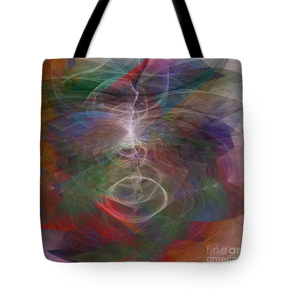 White Lightning Tote Bag featuring the digital art White Lightning - Square Version by John Beck