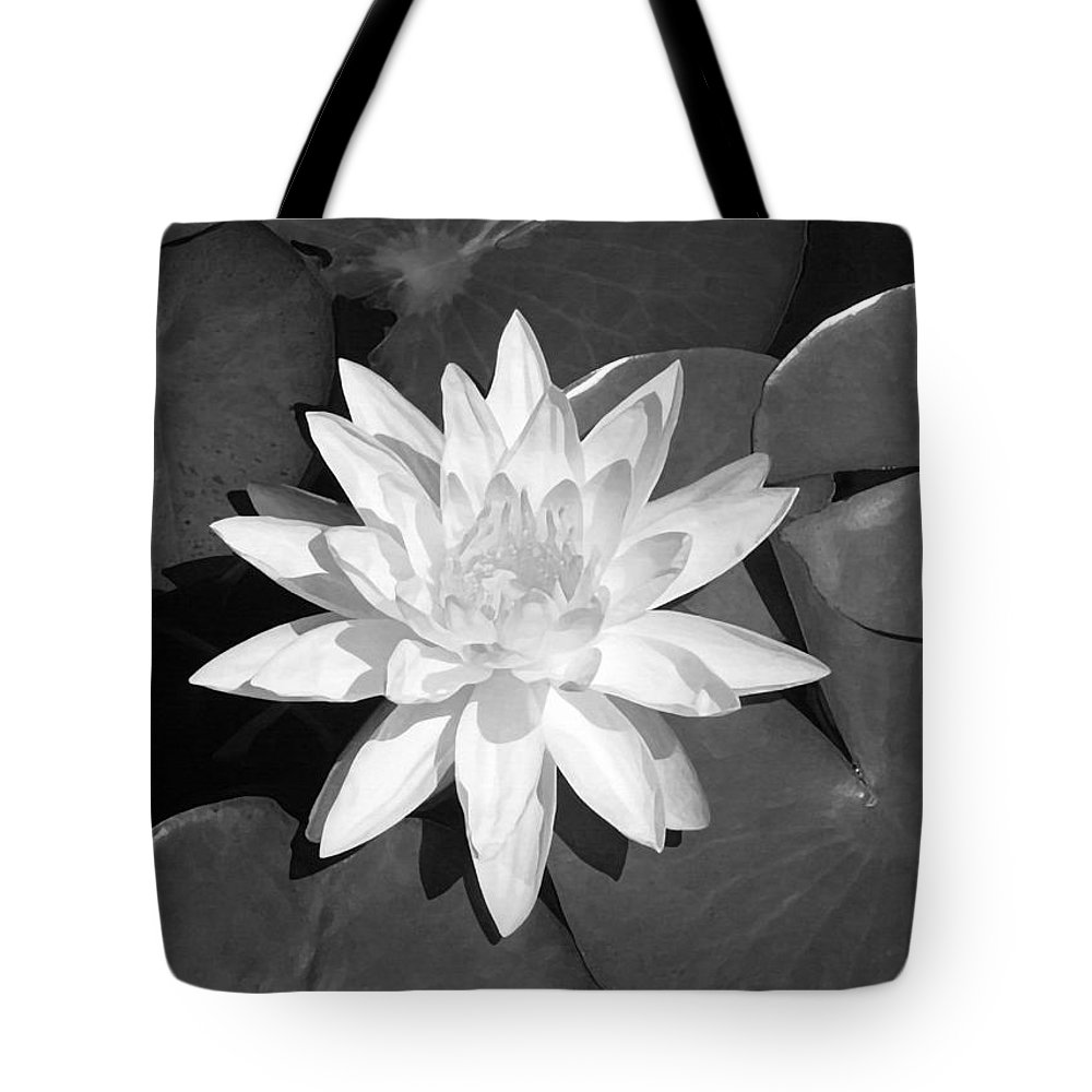 White Lotus Tote Bag featuring the painting White Lotus 2 by Ellen Henneke