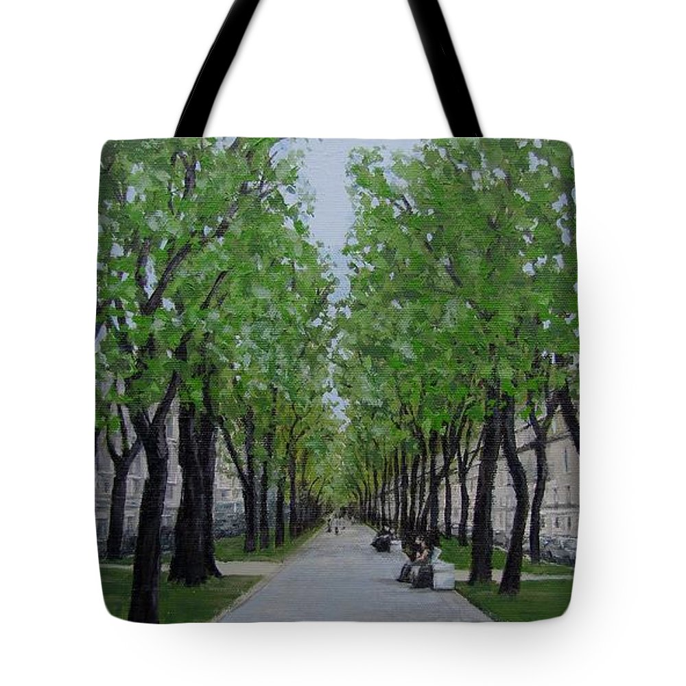 Russia Tote Bag featuring the painting White Night In St. Petersburg by Karen Ilari