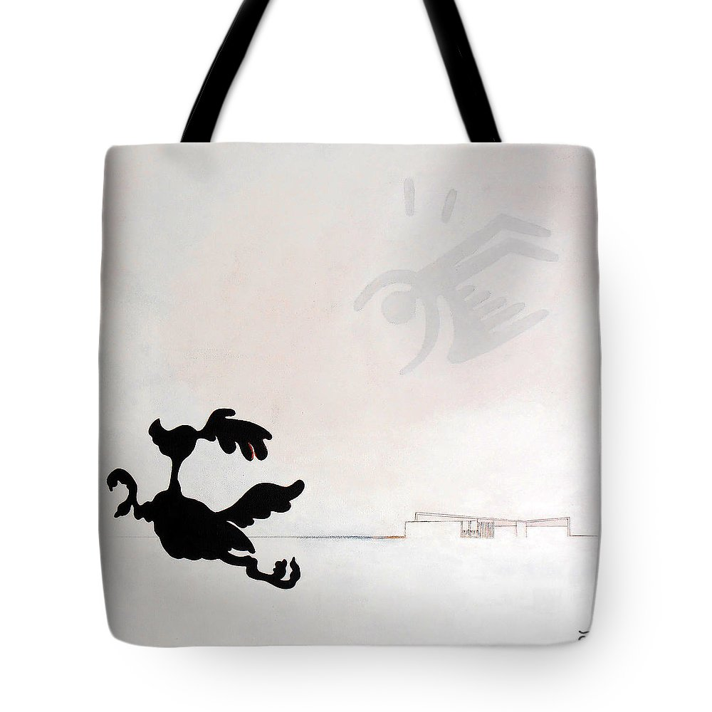 Palm Springs Tote Bag featuring the painting White Palm Springs Idyll by Stan Magnan