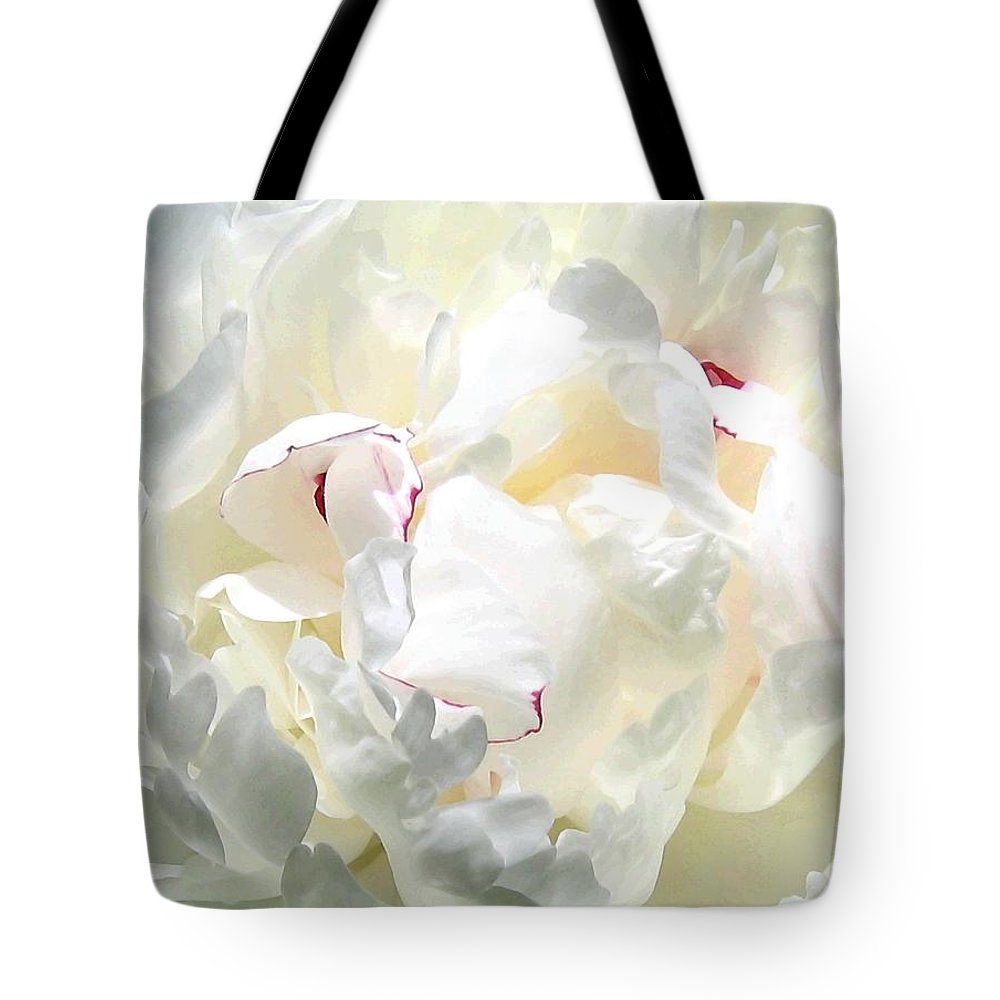 White Peony Tote Bag featuring the photograph White Peony by Will Borden