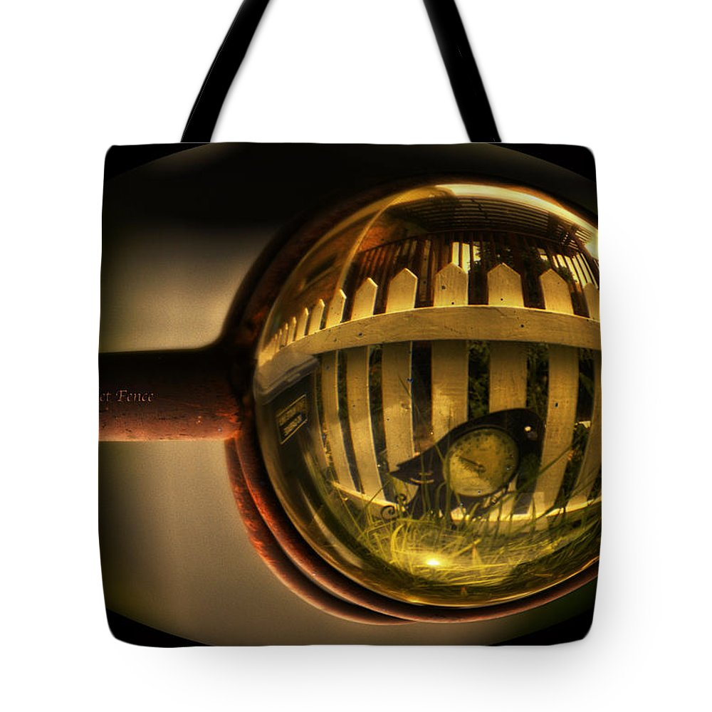 Little Planet Tote Bag featuring the photograph White Picket Fence by Thomas Woolworth