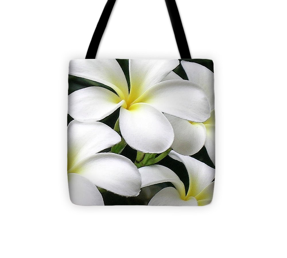 Hawaii Iphone Cases Tote Bag featuring the photograph White Plumeria by James Temple