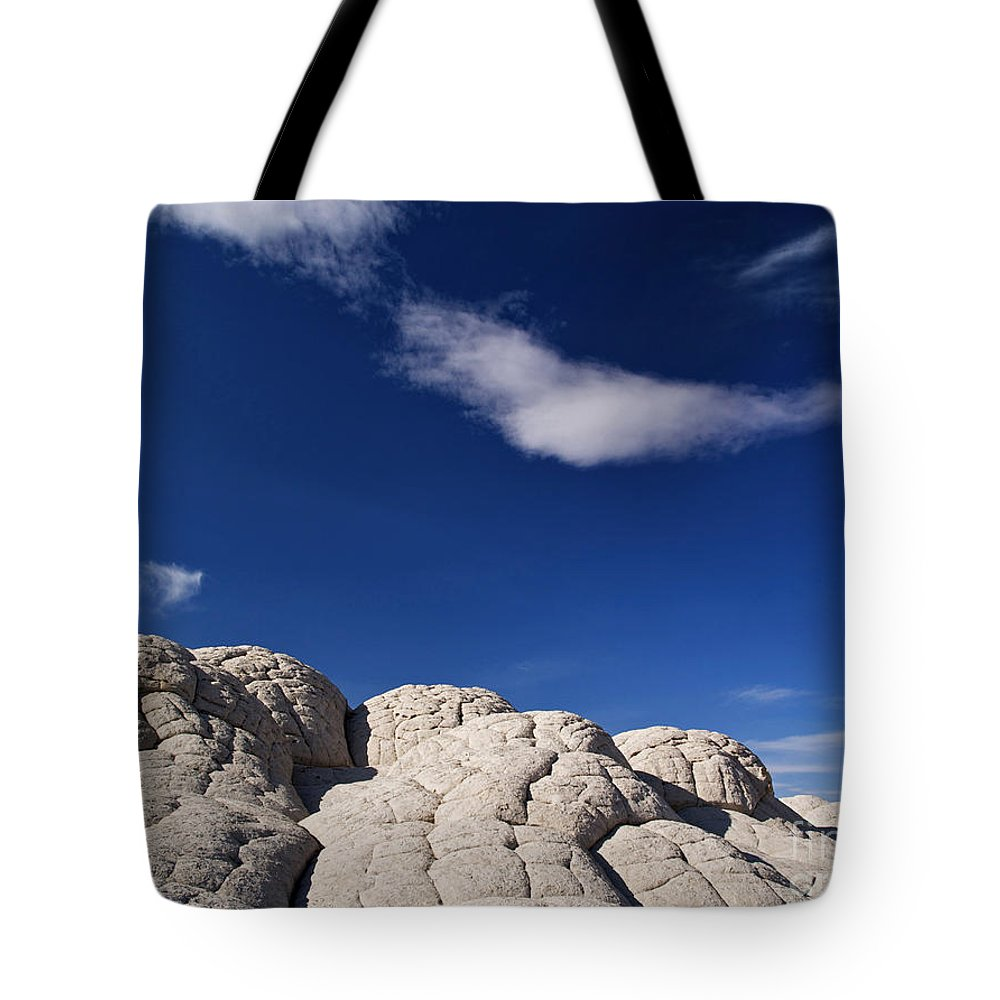 Landscape Tote Bag featuring the photograph White Pocket In The Vermillion Cliffs by Alex Cassels