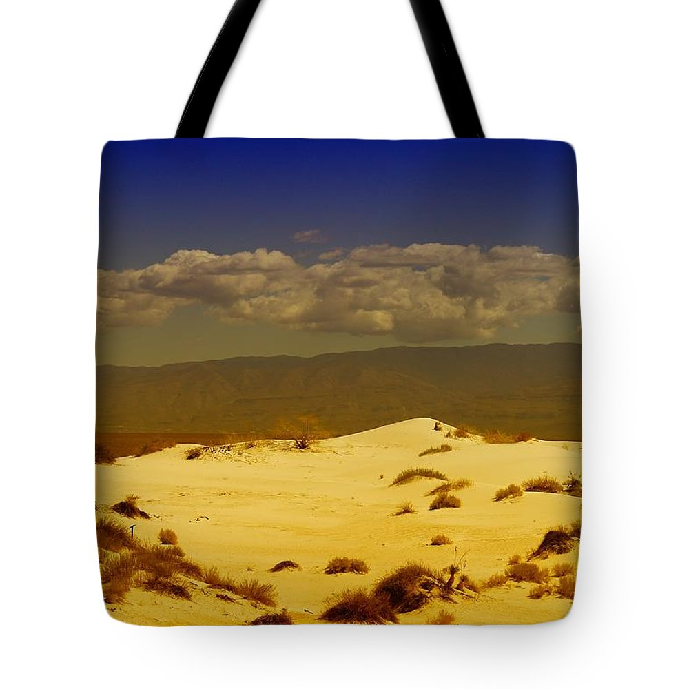 White Sands New Mexico Tote Bag featuring the photograph White Sands New Mexico by Jeff Swan