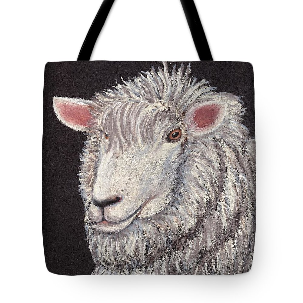 Sheep Tote Bag featuring the painting White Sheep by Anastasiya Malakhova