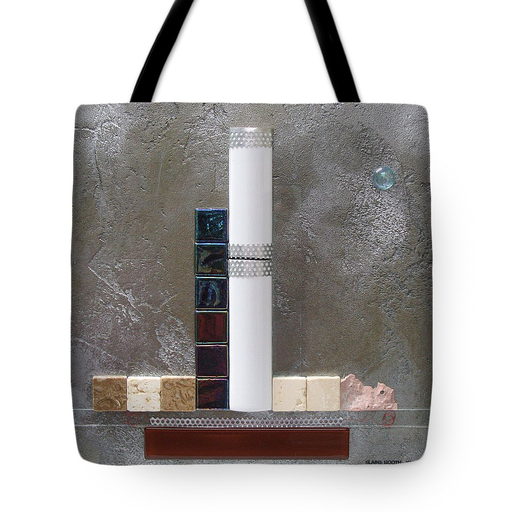 Assemblage Tote Bag featuring the relief White Tower by Elaine Booth-Kallweit