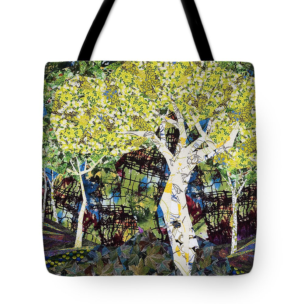 Landscape Tote Bag featuring the tapestry - textile White Trees by Linda Beach