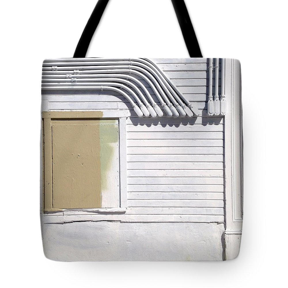 Wall Tote Bag featuring the photograph White Wall by Julie Gebhardt