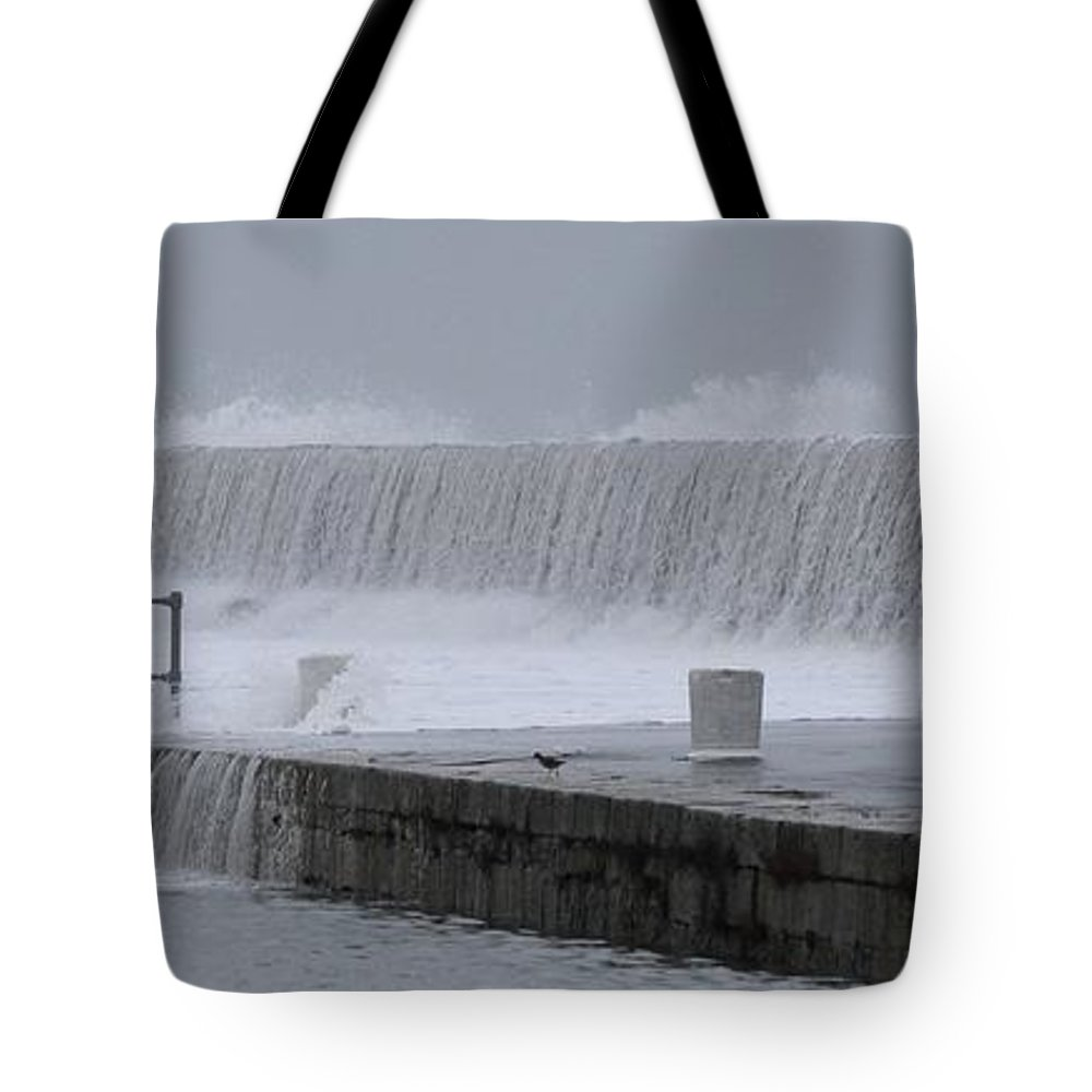 Howth Tote Bag featuring the photograph White Wash by Robert Phelan