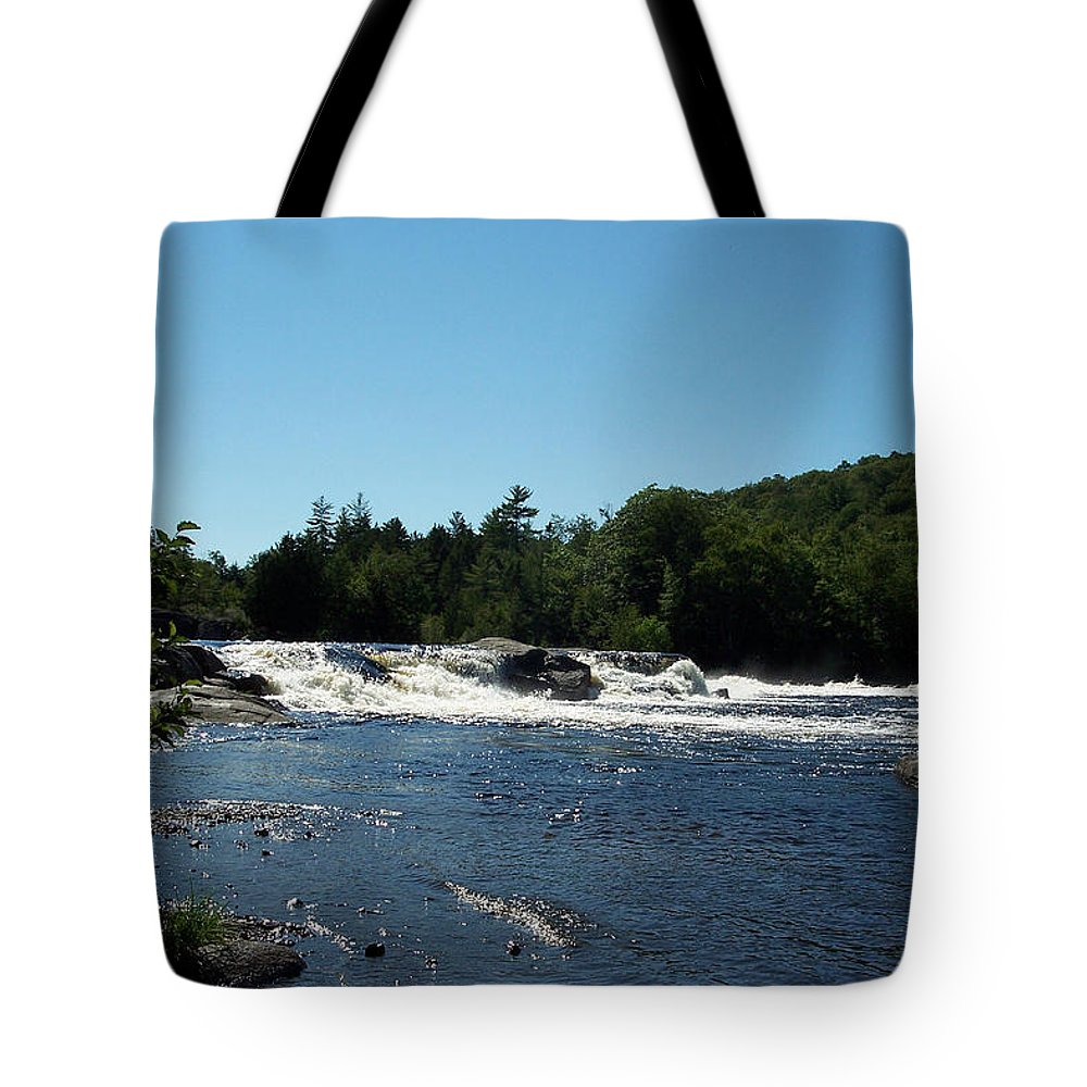 River Tote Bag featuring the photograph White Water On The West Branch by Georgia Hamlin