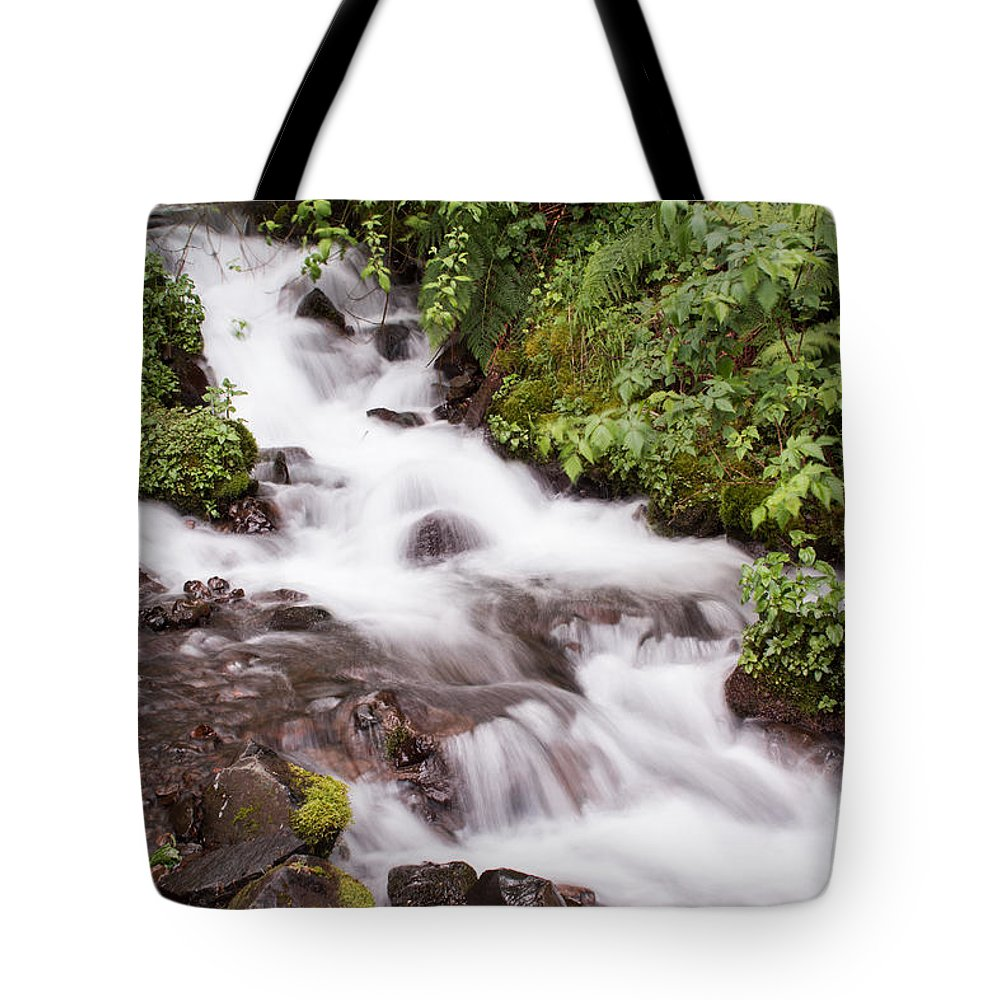 Waterfall Tote Bag featuring the photograph White Water by Suzanne Luft