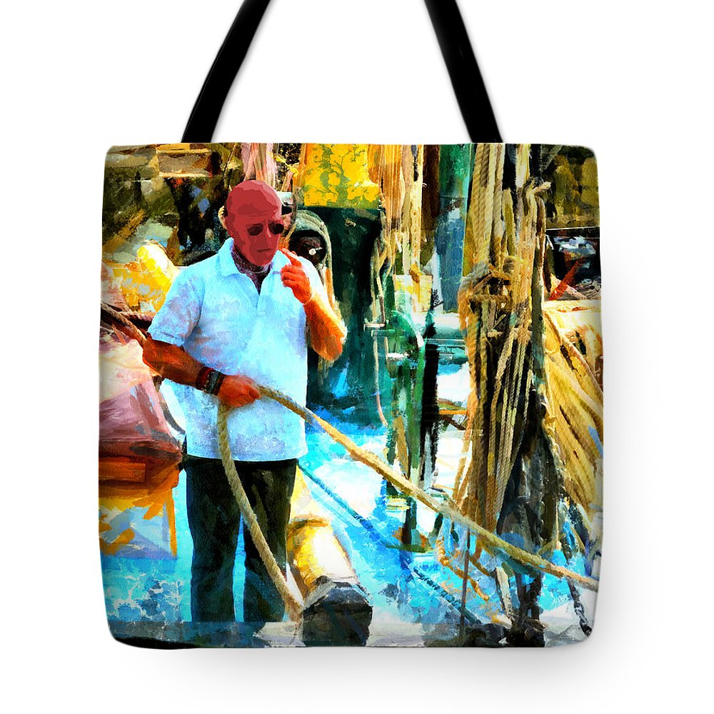 Crazy Tote Bag featuring the digital art Who's Crazy Now? by Steve Taylor