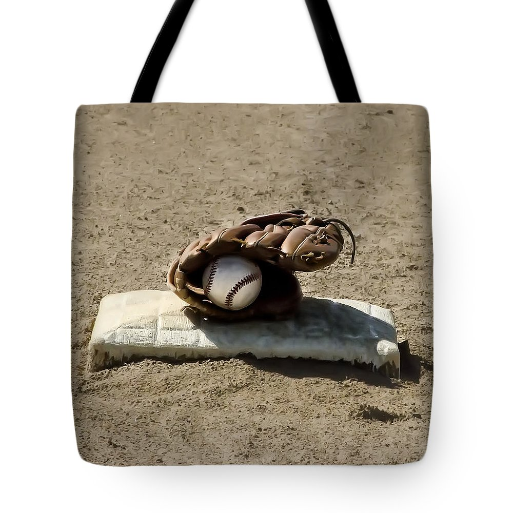 Who's On First Tote Bag featuring the photograph Who's On First by Bill Cannon