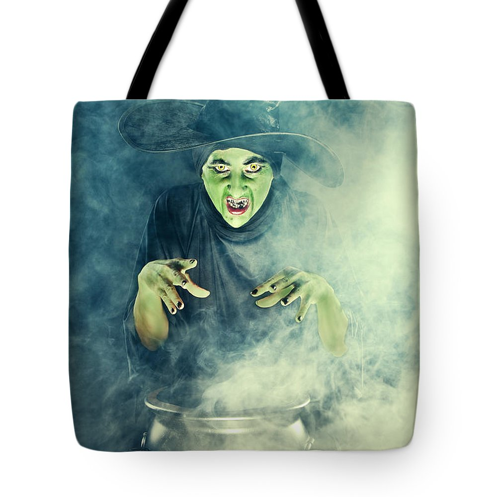 Woman Tote Bag featuring the photograph Wicked Witch by Sharon Dominick