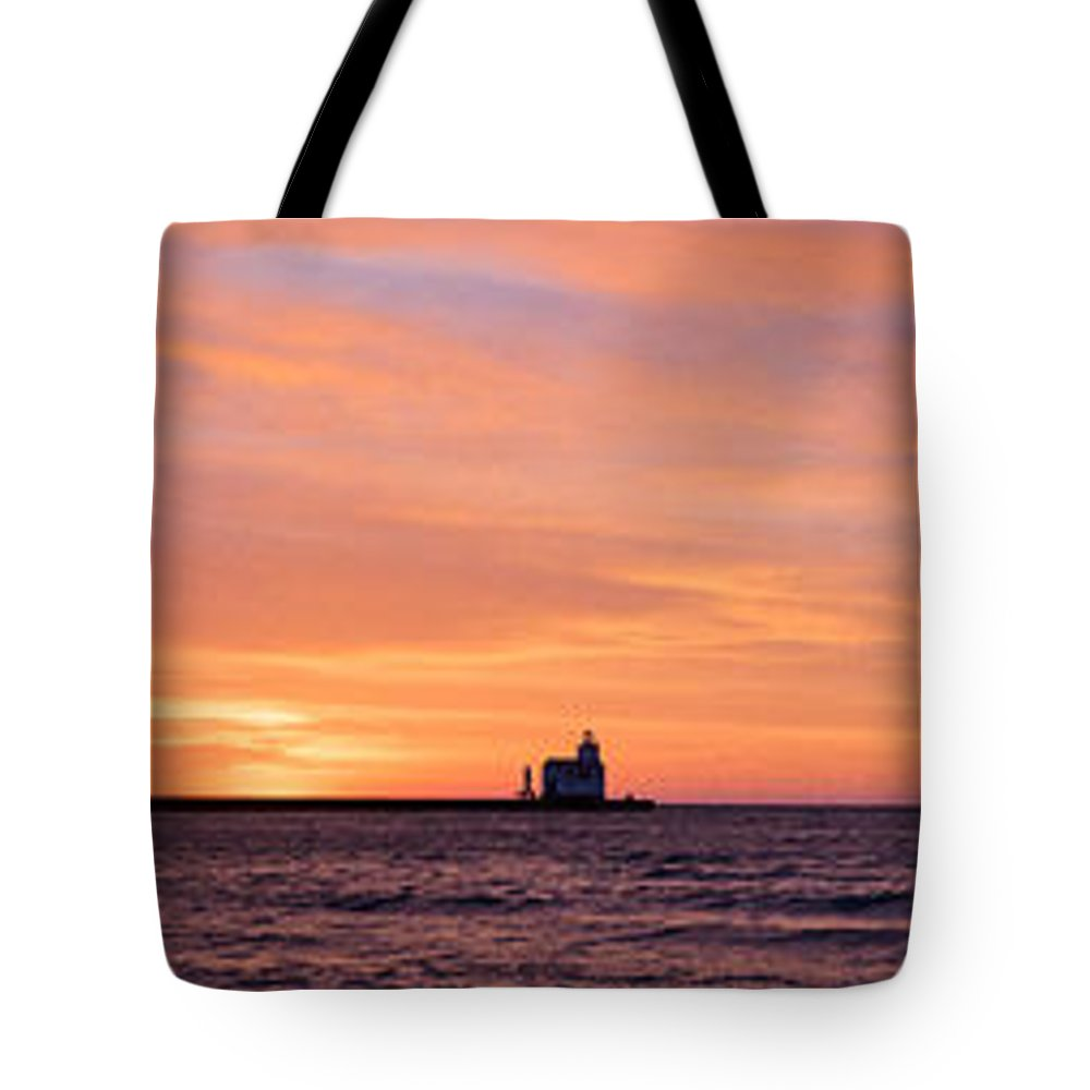Lighthouse Tote Bag featuring the photograph Wide Scene Format by Bill Pevlor