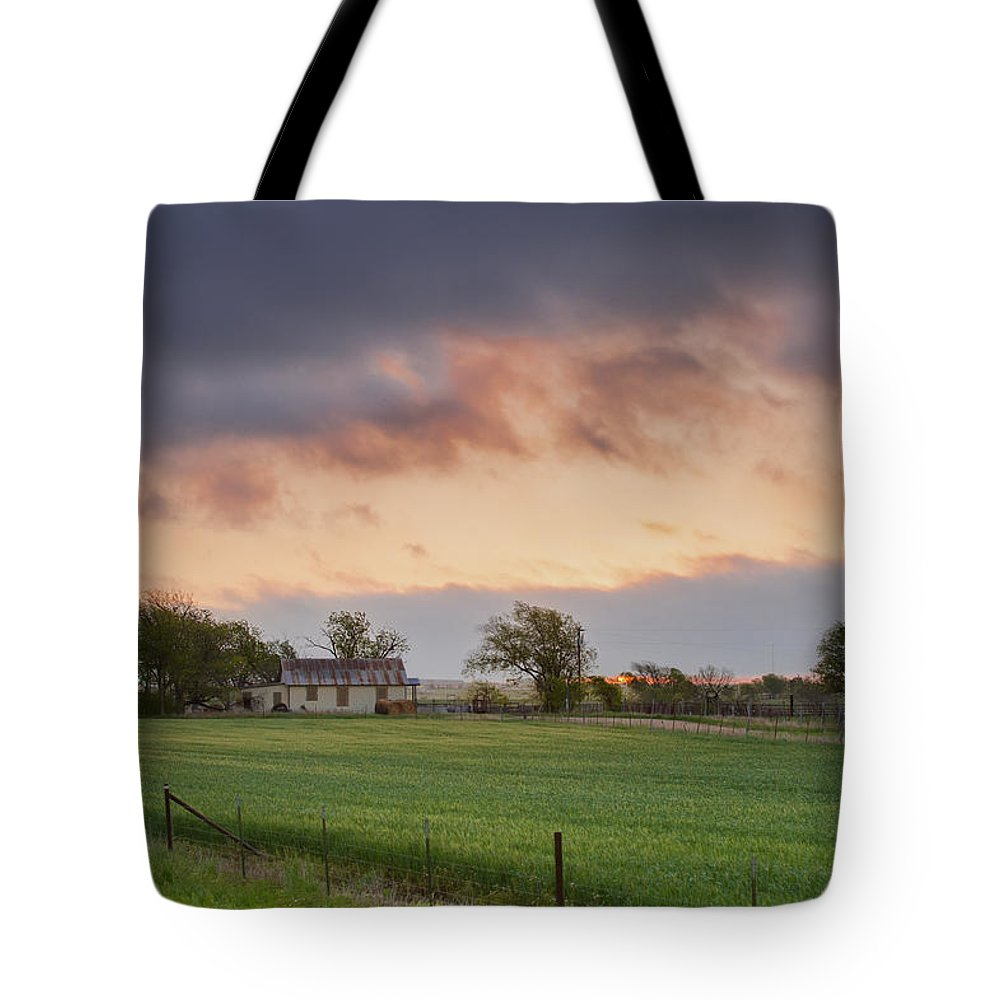 Spring Tote Bag featuring the photograph Wilco Sunrise by Sean Wray
