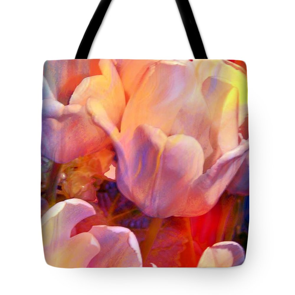 Tulip Tote Bag featuring the photograph Wild Colors by Kathleen Struckle