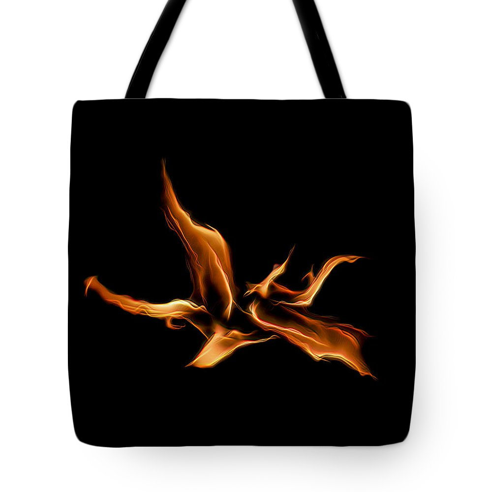 Fire Tote Bag featuring the photograph Wild Fire by Wes Jimerson