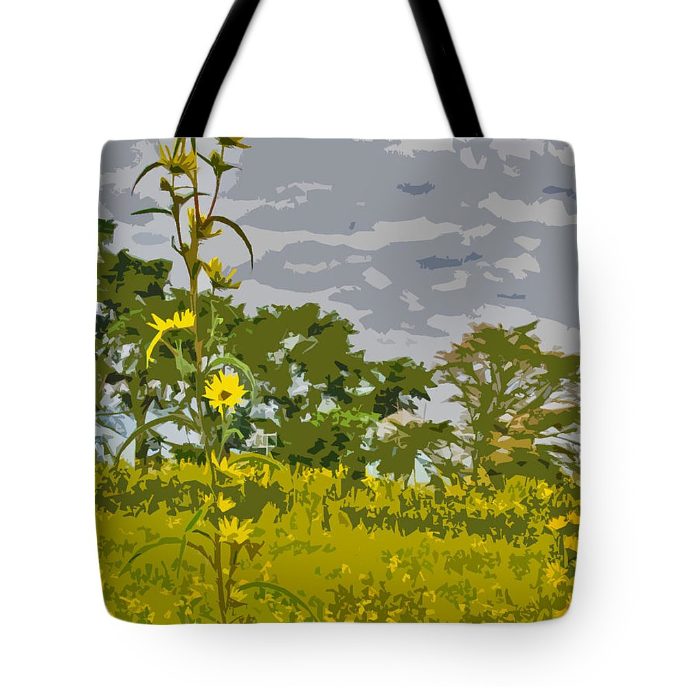 Flowers Tote Bag featuring the photograph Wild Flower Field Abstract by Minding My Visions by Adri and Ray