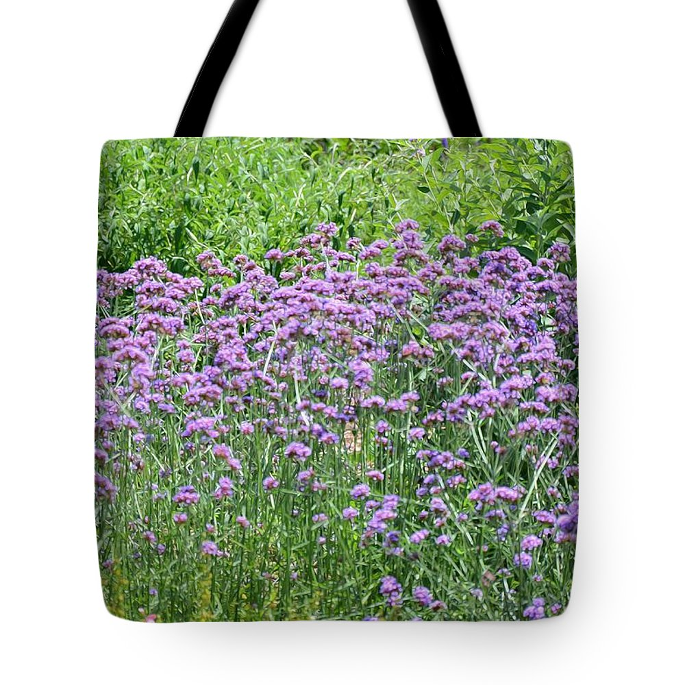 Garden Tote Bag featuring the painting Wild Flowers by Jeelan Clark