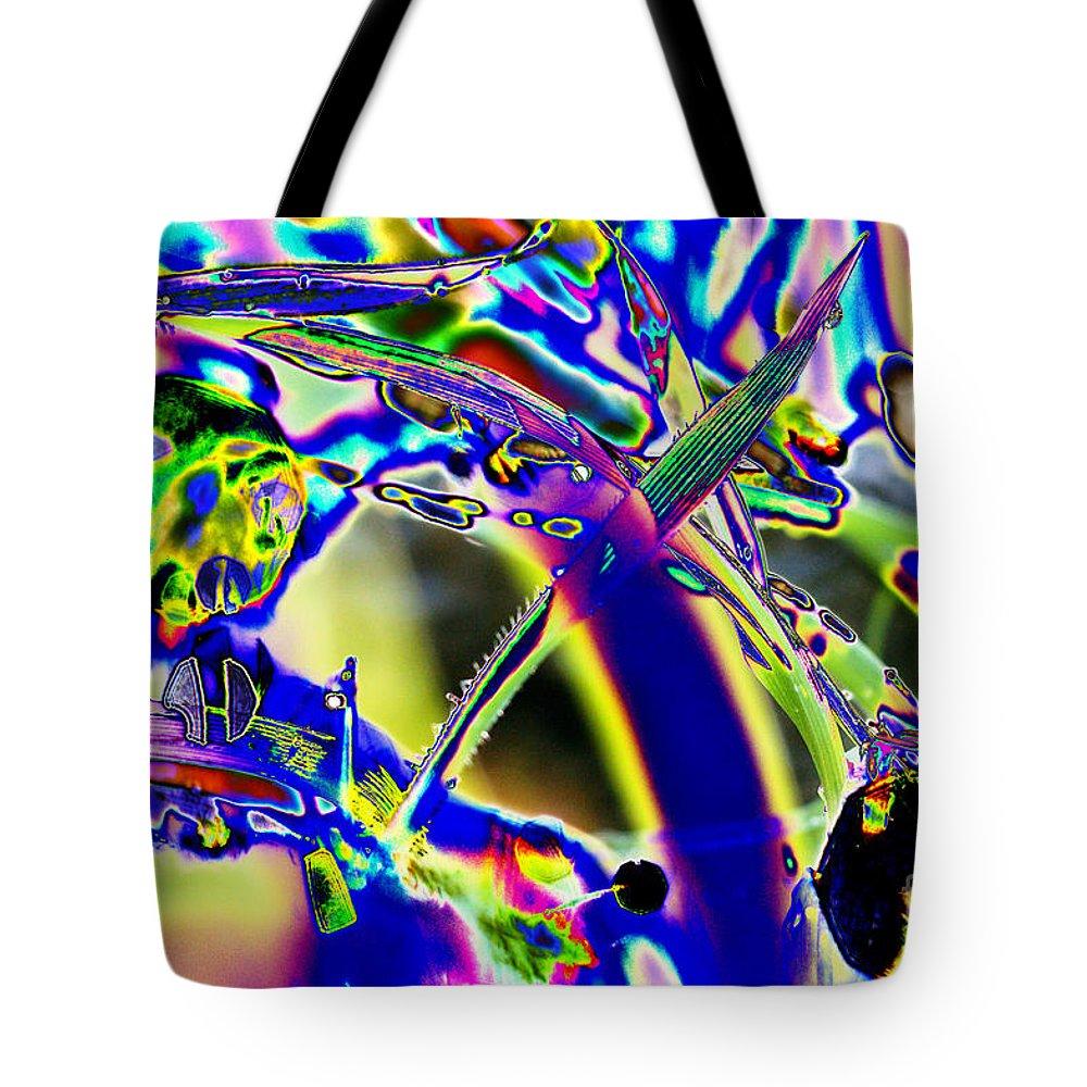 Grass Tote Bag featuring the digital art Wild Grass 1 by Carol Lynch