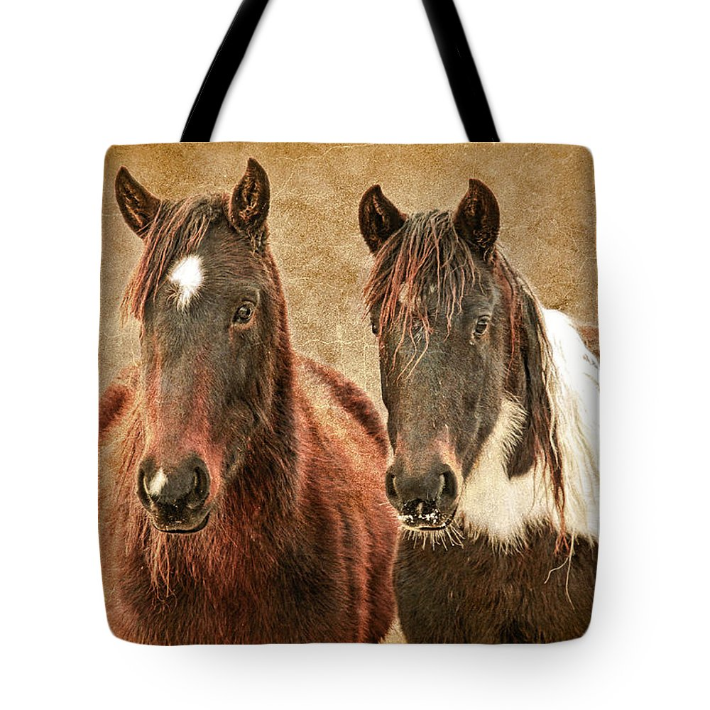 Wild Horses Tote Bag featuring the photograph Wild Horse Pair by Steve McKinzie
