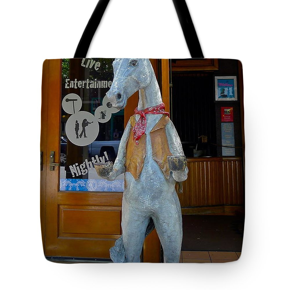 Wild Horse Saloon Tote Bag featuring the photograph Wild Horse Saloon by Denise Mazzocco